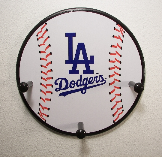 3 Peg Los Angeles Dodgers Baseball Hanger