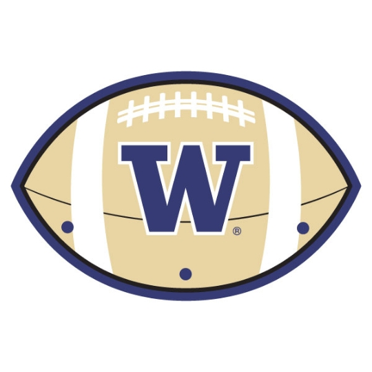 3 Peg UW Huskies Football Hanger #1