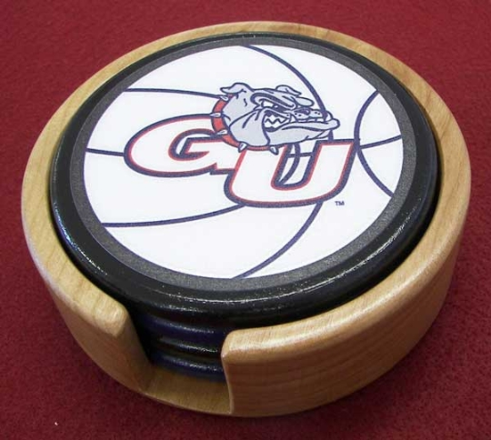 4 GU Bulldogs Basketball Coasters #2