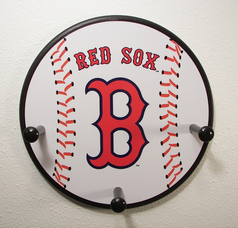 3 Peg Boston Red Sox Baseball Hanger