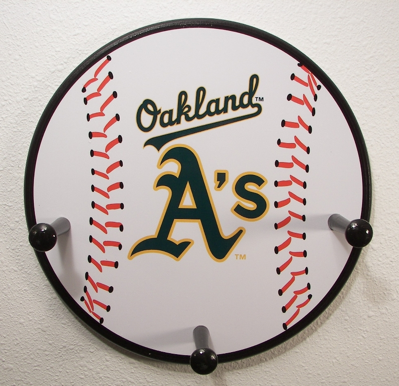 3 Peg Oakland Athletics Baseball Hanger