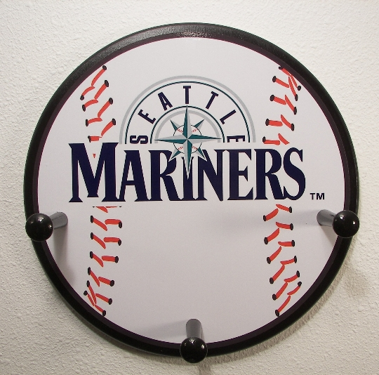3 Peg Seattle Mariners Baseball Hanger